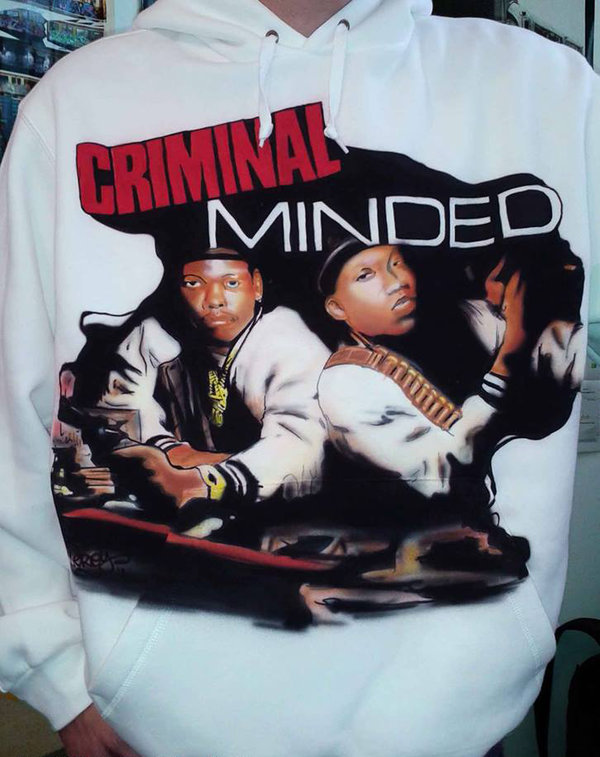 Criminal Minded (KRS 1 BDP) Airbrush Sweater custom made