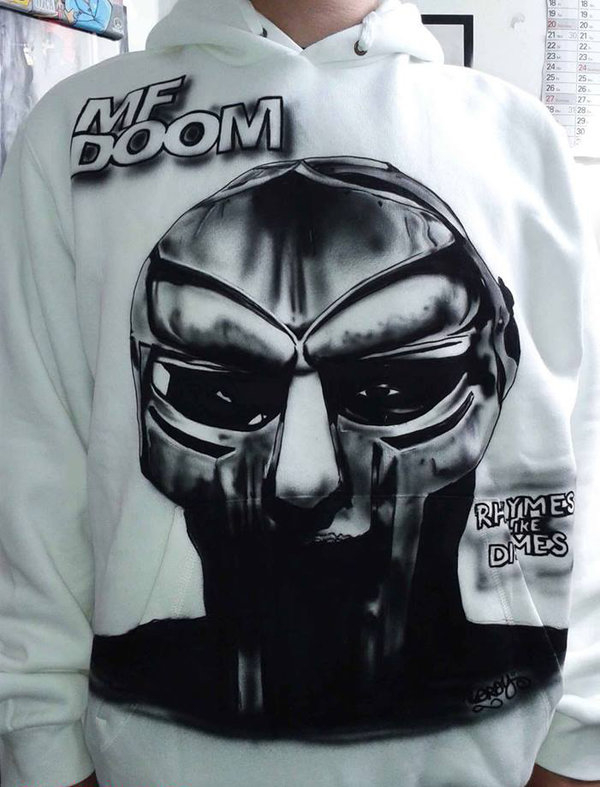 MF DOOM - Rhymes Like Dimes - Airbrush Hoody custom made