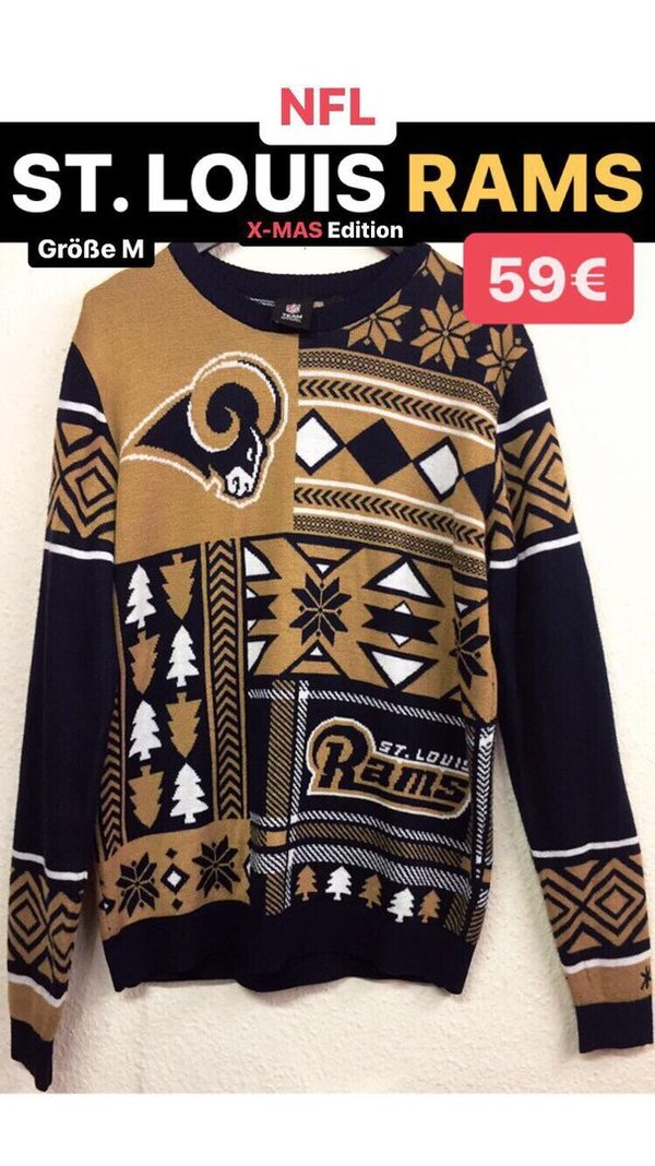 NFL ST. LOUIS RAMS Sweater - X-MAS Edition (Größe M)